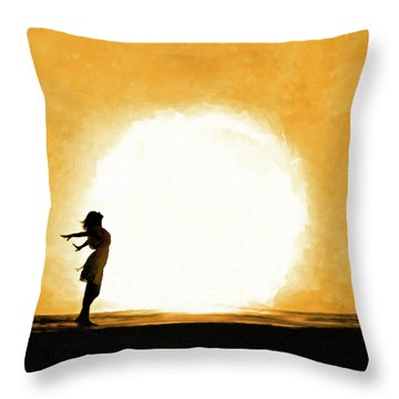 Throw Pillow featuring the mixed media Child Of The Universe by Mark Tisdale