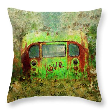 Love Bus Throw Pillow
