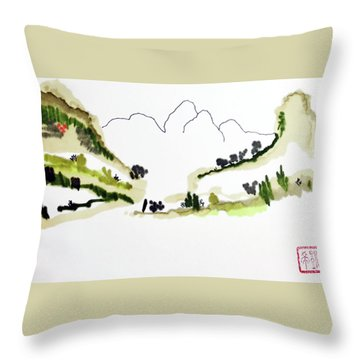 Shadow Mountain Throw Pillow