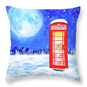 Throw Pillow featuring the mixed media The Great British Winter by Mark Tisdale