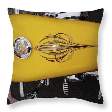 Throw Pillow featuring the photograph Tank Art by John Schneider
