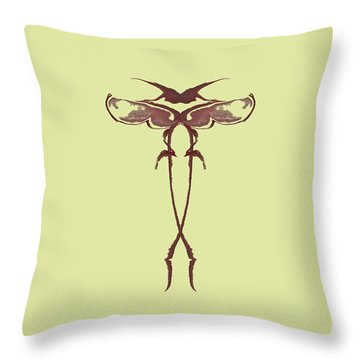Zen Fly Specimen  Throw Pillow