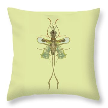 Mosquito Specimen Throw Pillow