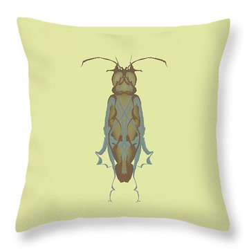 Cockroach Specimen Throw Pillow