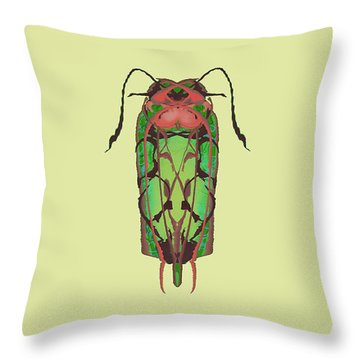 Dread Bug Specimen Throw Pillow