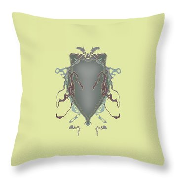 Fuzzy Eared Horsefly Specimen Throw Pillow