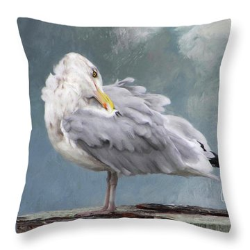 Looking Back Signed Throw Pillow