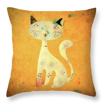 Artistic Pussycat Throw Pillow