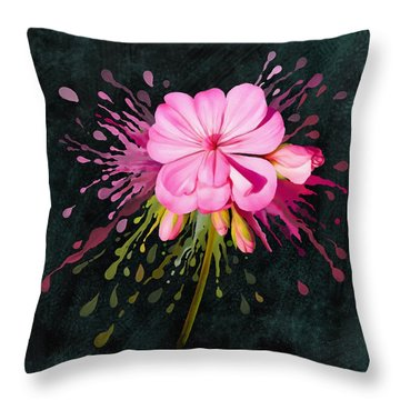Color Eruption  Throw Pillow