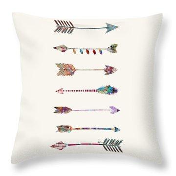 7 Arrows Throw Pillow