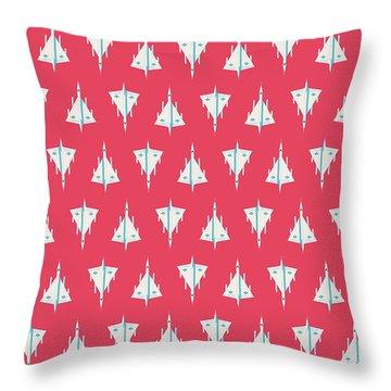B-58 Hustler Supersonic Jet Bomber - Crimson Throw Pillow