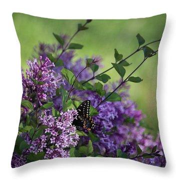 Lilac Enchantment Throw Pillow by Karen Casey-Smith