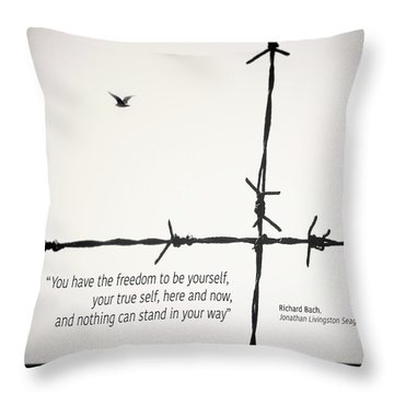 Freedom To Be Yourself... Throw Pillow