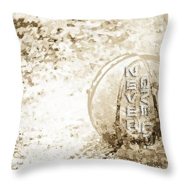 Never Give Up Hebrews Chapter 11 Throw Pillow