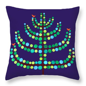 A Little Birdy Told Me.. Throw Pillow