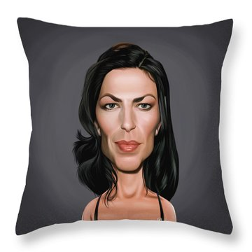 Celebrity Sunday - Claudia Black Throw Pillow