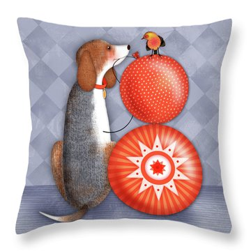 B Is For Beagle Throw Pillow