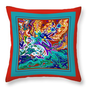 Life Ignition Option 2 With Borders Throw Pillow