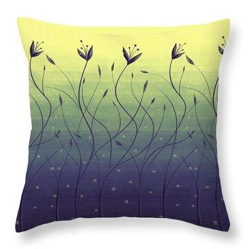 Algae Plants In Green Water Throw Pillow