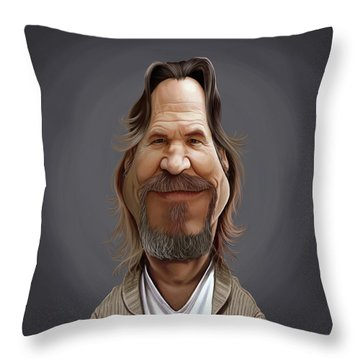 Celebrity Sunday - Jeff Bridges Throw Pillow