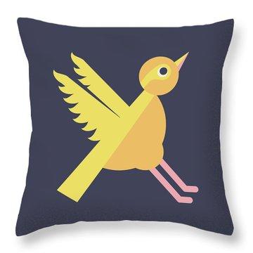 Letter X - Animal Alphabet - Xenops Monogram Throw Pillow