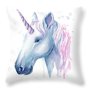 Cotton Candy Unicorn Throw Pillow