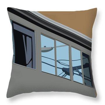 Power Windows Throw Pillow