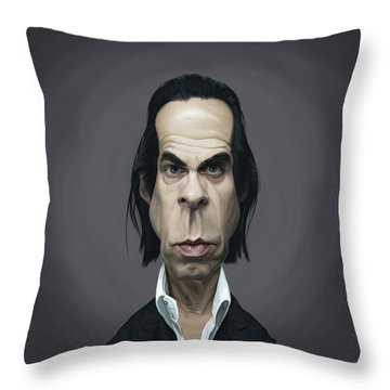 Celebrity Sunday - Nick Cave Throw Pillow