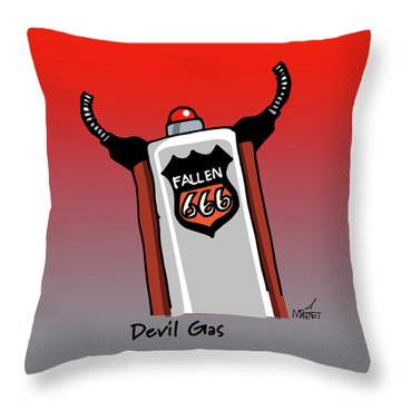 Devil Gas Throw Pillow