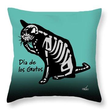 Dia De Los Gatos Throw Pillow
