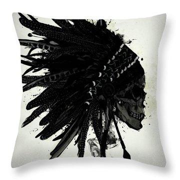 Warbonnet Skull Throw Pillow