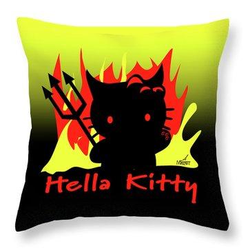 Hella Kitty Throw Pillow