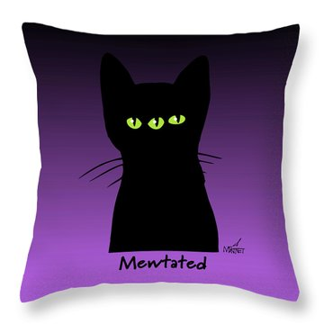 Mewtated Throw Pillow
