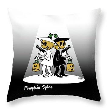 Pumpkin Spies Throw Pillow