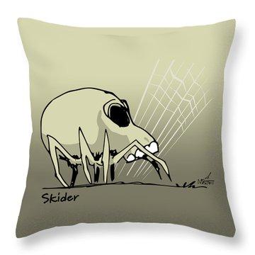 Skider Throw Pillow