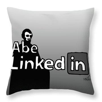 Abe Linkedin Throw Pillow