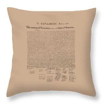 The Declaration Of Independence Throw Pillow by War Is Hell Store