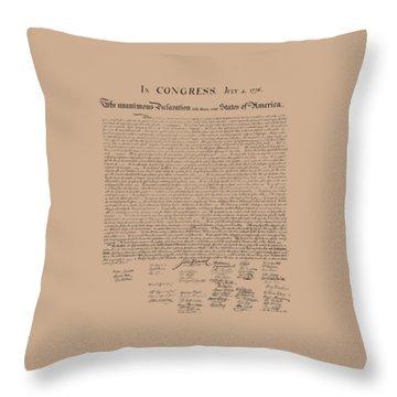 Founding Father Throw Pillows