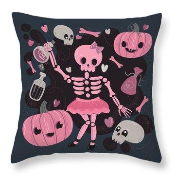 Love Potion Skeleton Dance Throw Pillow