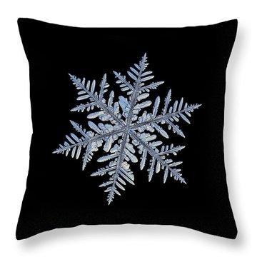 Real Snowflake - Silverware Black Throw Pillow