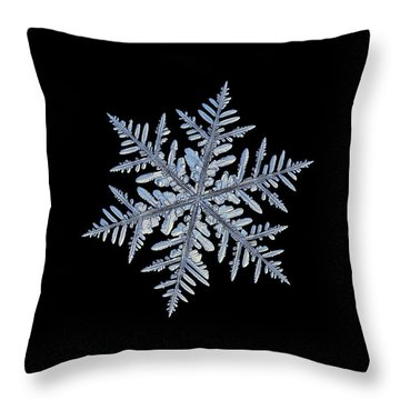 Real Snowflake - Silverware Black Throw Pillow