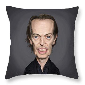 Celebrity Sunday - Steve Buscemi Throw Pillow