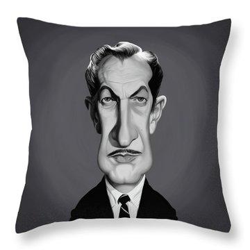 Celebrity Sunday - Vincent Price Throw Pillow