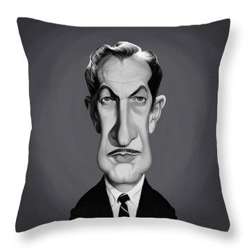 Celebrity Sunday - Vincent Price Throw Pillow