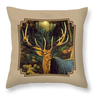 Elk Painting - Autumn Majesty Throw Pillow