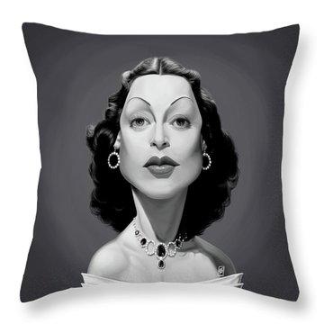 Celebrity Sunday - Hedy Lamarr Throw Pillow