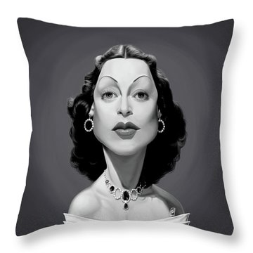 Celebrity Sunday - Hedy Lamarr Throw Pillow