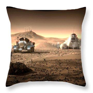 Throw Pillow featuring the digital art Valley End Cam 34 by Bryan Versteeg