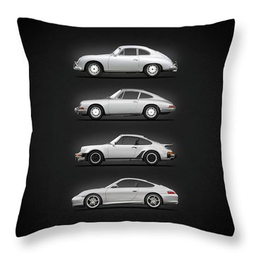Evolution Of The 911 Throw Pillow