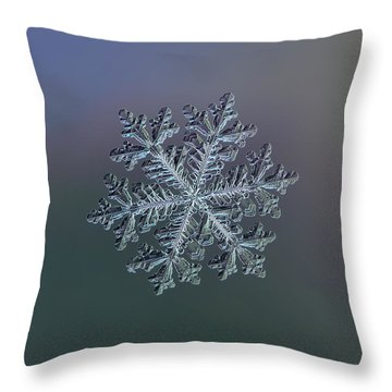 Real Snowflake - Hyperion Dark Throw Pillow